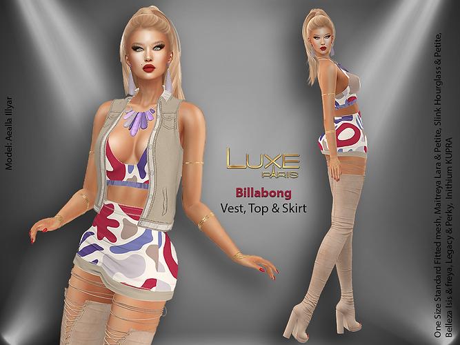 LUXE Paris BILLABONG Vest Top Skirt.png