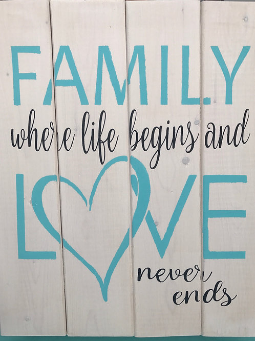 Family is Where Love Never ends
