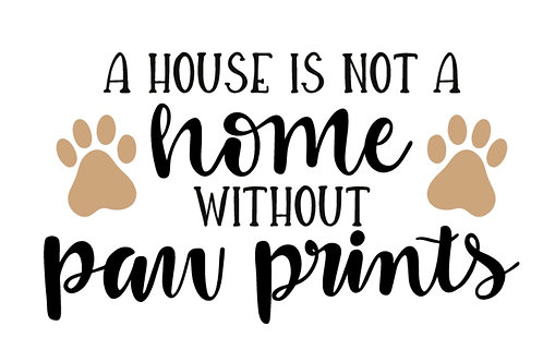 House is not a home without paw prints