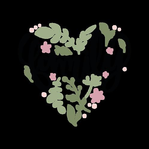 Family Heart 11x16