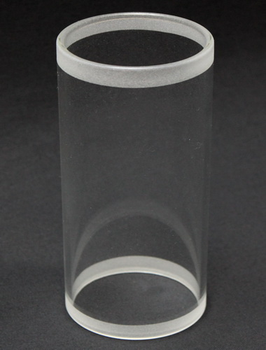 Glaszylinder teilsandgestrahlt