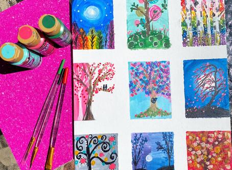 9 Tree Challenge - Happy Little Trees!