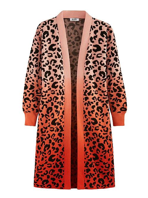 525 America: Leopard Dip Dye Cardi