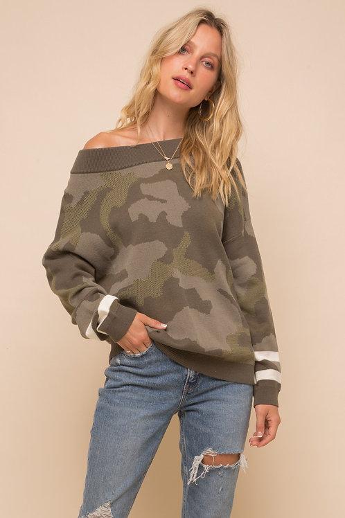 Hem & Thread: Camo Pullover Sweater