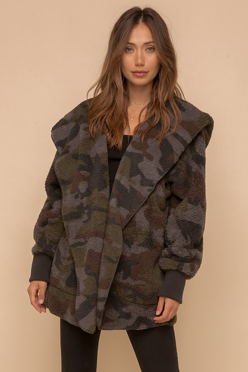Hem & Thread: Camo Sherpa Jacket