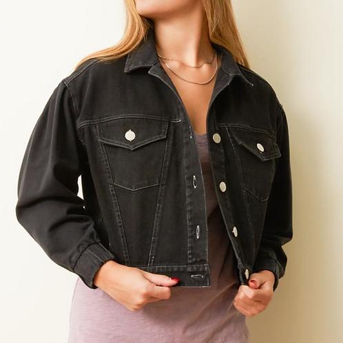 525 Ameroca: Black Denim Jacket