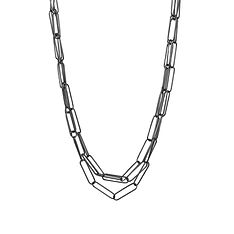 triple strand paperclip necklace - Copy.