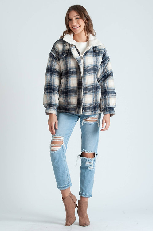 Lucca Couture: Emmy Flannel Plaid Jacket