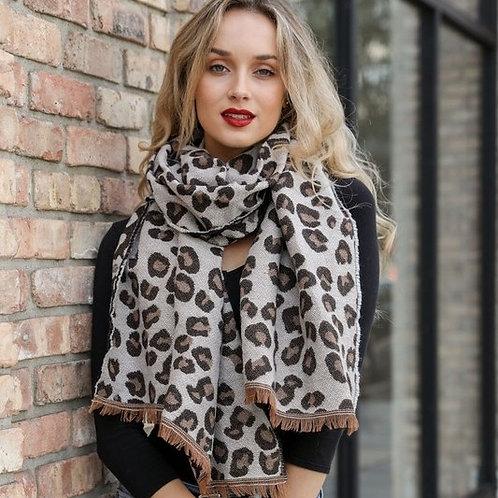 Leto: Leopard Print Scarf