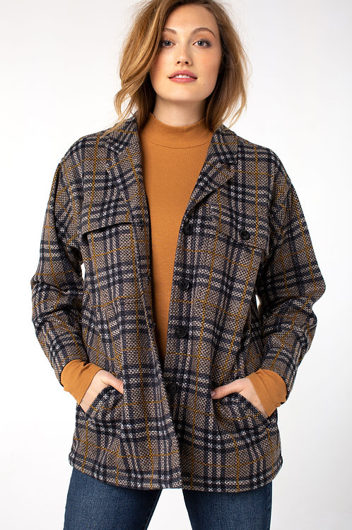 Liverpool: Plaid Boxy Jacket