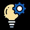 Ícone de lâmpada, inovação na agricultura