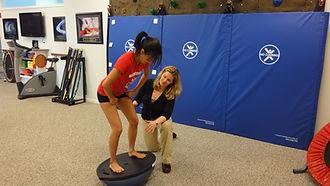 Balance training a teenager