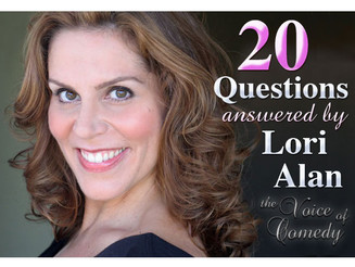 20 Questions Interview with Lori Alan Comedienne, Actress, and Voiceover Expert