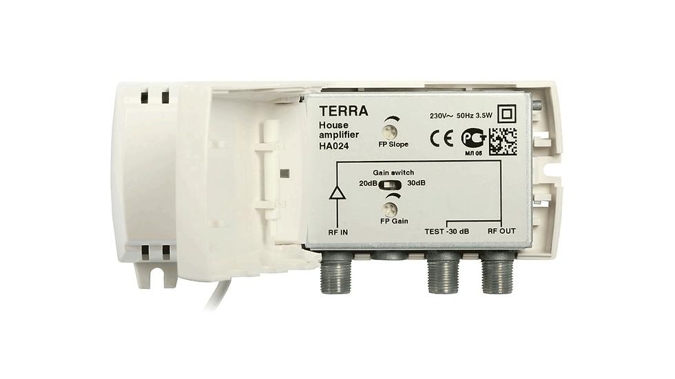 Усилитель HA024, 220В, 47-862МГц, 18-30дБ, 97дБмкВ