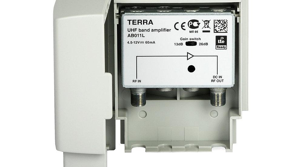 Усилитель TERRA AB011, ДМВ(47-862МГц), мачтовый, 27дБ