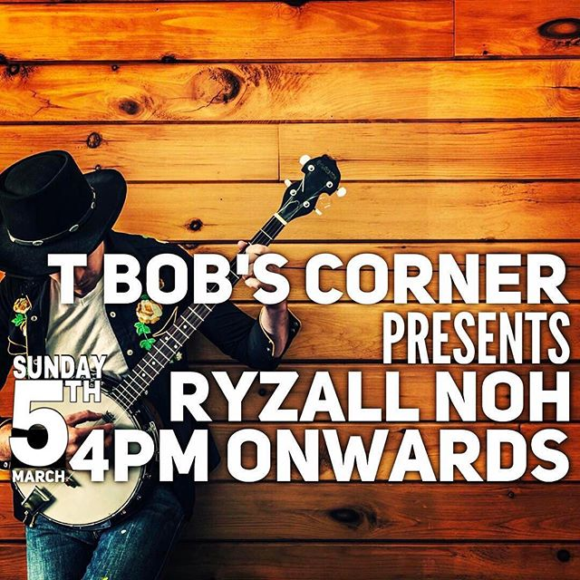 Acoustic session. Tomorrow afternoon. With _ryzallvox. At T Bob's Corner. 527 Bedok North St 3. Free