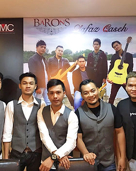Baron Bros single launch, Lafaz Qaseh, at T Bob's Corner, with Haqiem Rusli and Wany