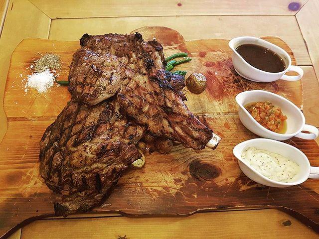 _Repost _ashariffin01 Massive OP steak over at T Bob's Corner is da best!!! 👍🤘_ Brother knows best
