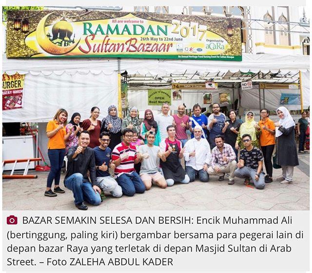 Berita Harian, Sabtu, 10 Jun 2017._Feeling blessed this Ramadan. Come on down to Masjid Sultan Ramad
