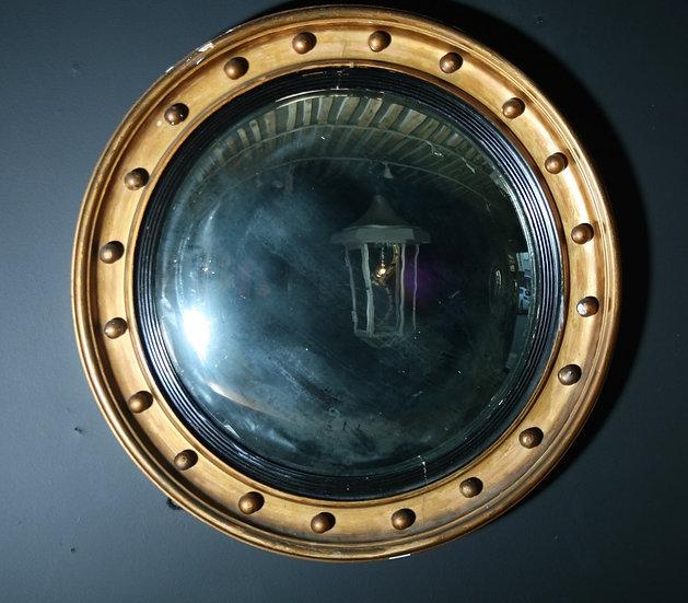 Large Regency Convex Mirror SOLD