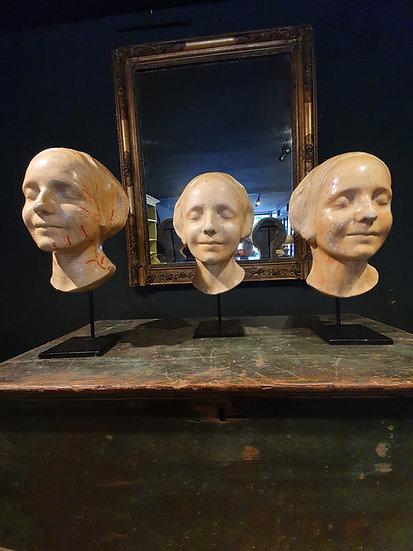 Plaster Death Mask L'Inconnue de la Seine