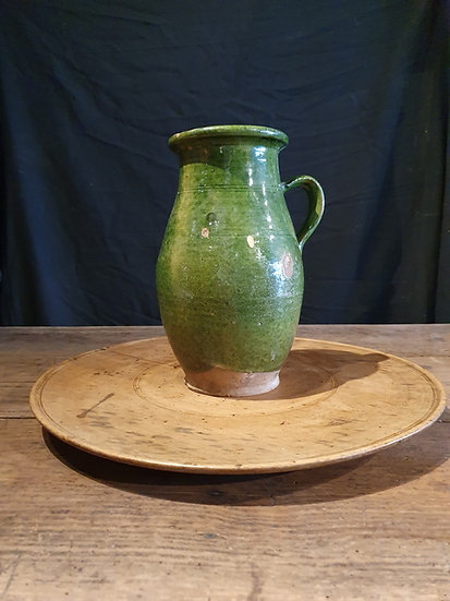 Green Glazed Pottery Jug
