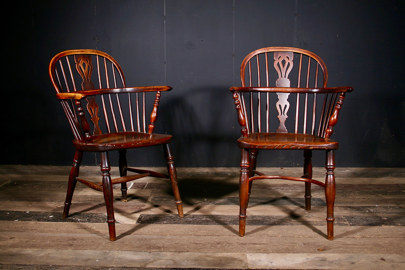 Rare Pair of Yew Wood Windsor Chairs SOLD
