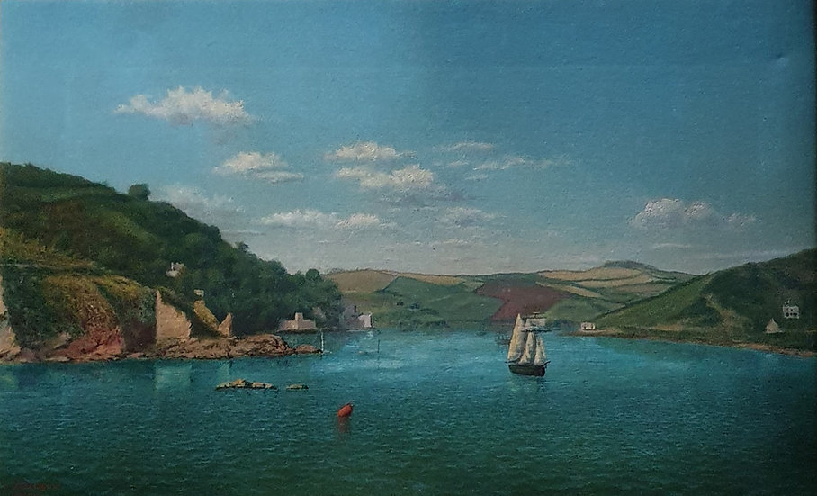 Early Oil Painting Of Salcombe SOLD