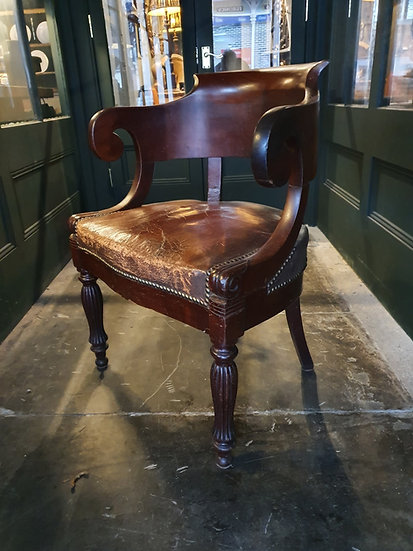 Leather Library or Desk Chair SOLD