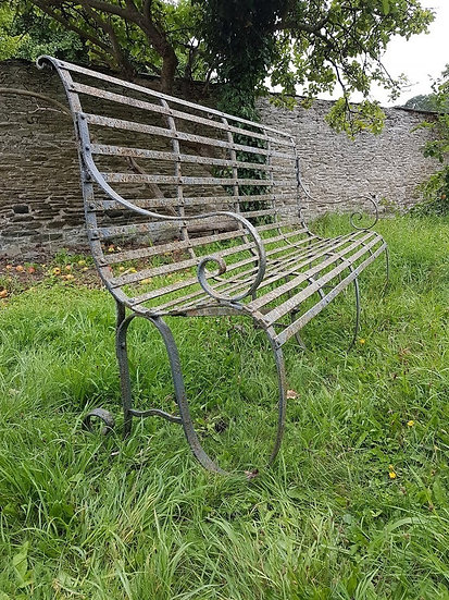Victorian Wrought Iron Bench SOLD