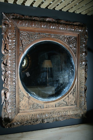 Carved Oak Mirror SOLD