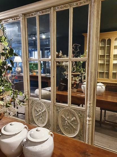 Magnificent Mirrored Armoire in Original Paint SOLD