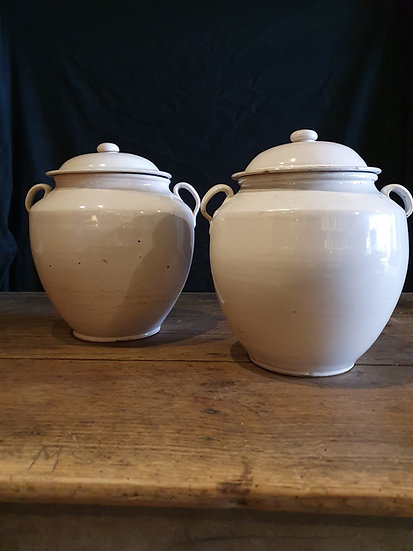 White Confit Pots