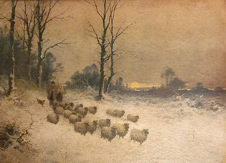 Winter Landscape oil on Canvas after 'Joseph Farquharson