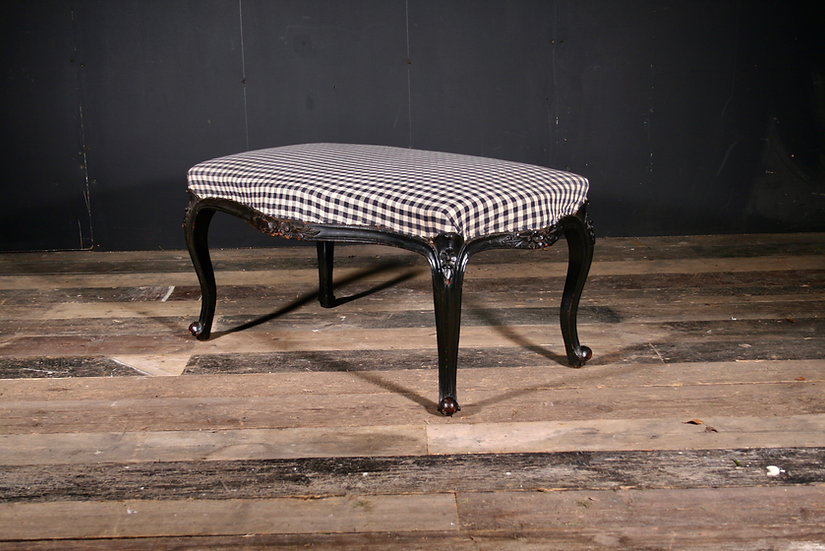 Original Ebonised English Centre Stool