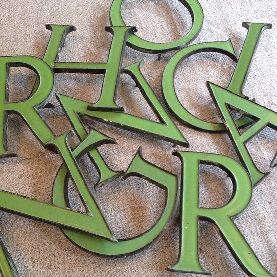 Bronze Enamelled Letters SOLD