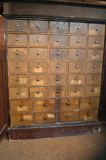 Solicitors Pine Bank of Drawers SOLD
