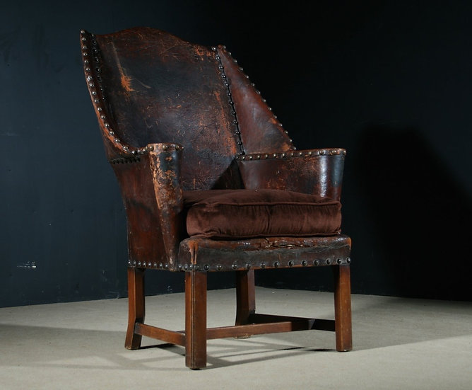 Leather Wing Chair SOLD