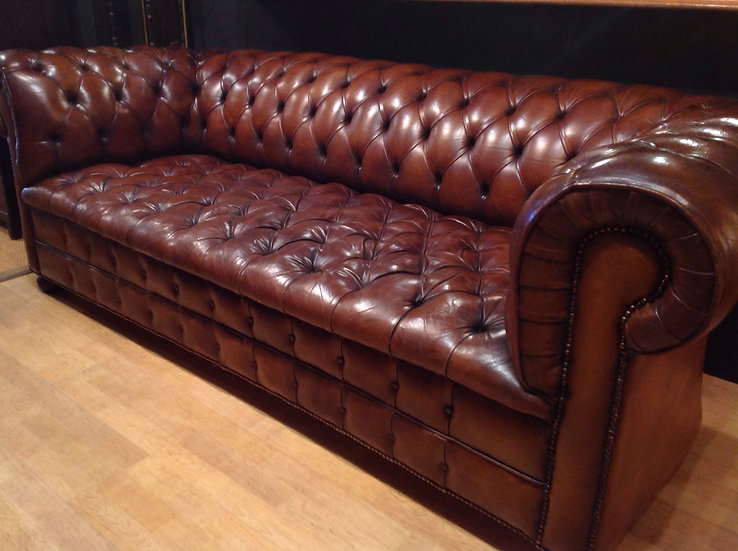 Leather Chesterfield Sofa SOLD
