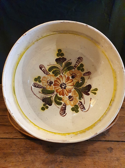 Antique Painted Salad Bowl