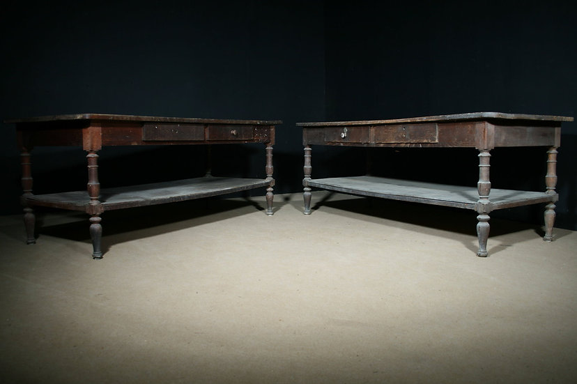 Pair of Country Prep Tables SOLD