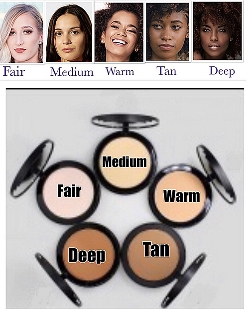Pressed Powder (5 different Shades) Each at $18.00