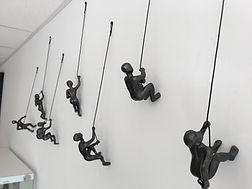 7 Piece Climbing Sculpture Wall Art Gift