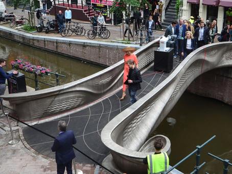Amsterdam hosts opening of World's first 3d printed steel bridge