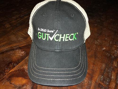 Black and Green Gutcheck Indicators Snap Fit Cap