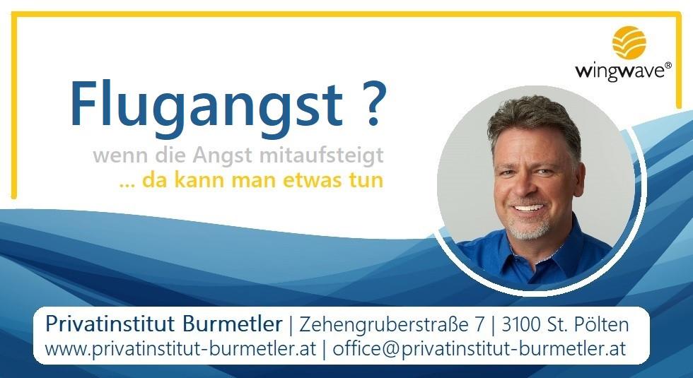 Coaching gegen Flugangst | Privatinstitut Burmetler | St. Pölten | Wingwave