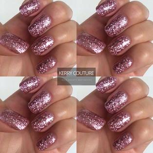 Sparkly nail polish at Kerry