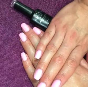 Love this baby pink £25 gel varnish  #th