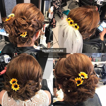 Love this wedding hair up with these cut