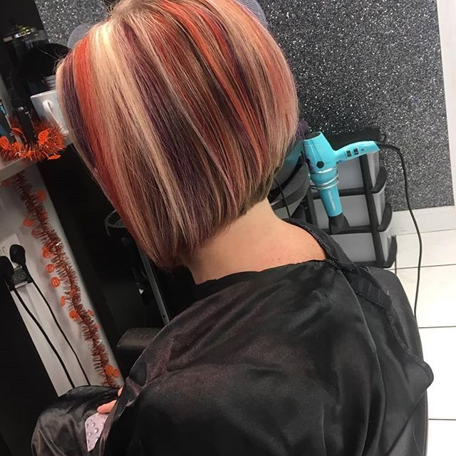 Love these funky colours by our Stylist